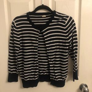 Nautical Striped J crew cardigan